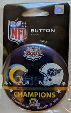 Tennessee Titans Super Bowl XXXIV Button SB 50 Commemative Set ON THE FIFTY