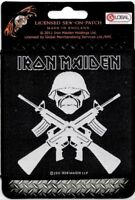 Official Merch Woven Sew-on PATCH Eddie IRON MAIDEN A Matter of life and Death