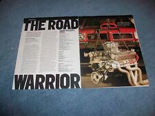 """505ci Pontiac Drag Engine Tech Info Article """"The Road Warrior"""" ---From 2005----"""
