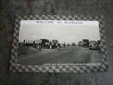 OLD 1950s BRITISH POSTCARD, VIEW OF CARTER CAR BOUNDARY SCOTLAND & ENGLAND