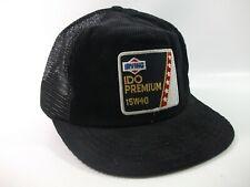 Irving Oil IDO Premium 15W40 Patch Hat Vintage Black Snapback Trucker Cap