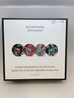 New Williams Sonoma Chiang Mai Dragon Schumacher Salad Plates Set Of 4
