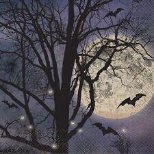 Lot de 16 Spooky Nuit Serviettes-Halloween Party Vaisselle 33 cm x 33 cm