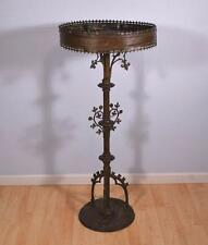 "46"" Antique French Bronze Gothic Revival Church Votive Candle Stand"