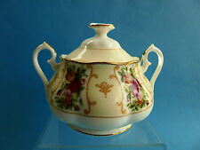 ROYAL ALBERT ROSE CAMEO PEACH LIDDED SUGAR BOWL - AS NEW