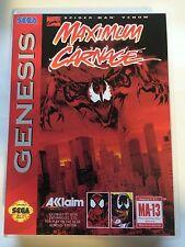 Maximum Carnage - Sega Genesis - Replacement Case - No Game