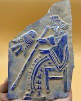 Wonderful Lapis lazuli antique beautiful carving stone rare Relief tile