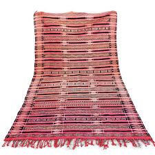 "VINTAGE Moroccan Handmade Kilim RUG 5'5"" X 10'8"" beni ourain boujaad azilal rug"