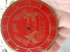 SCHATZ GERMAN ANNIVERSAY CLOCK 4 in. Dia. DIAL Red