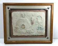 "Vintage Figi Graphics Pressed Art Signed by Priscilla 9"" x 11"" ""Oven"""