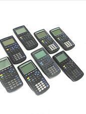 8 Texas Instruments Graphing Calculators + Covers (Parts or Repair Only) As Is