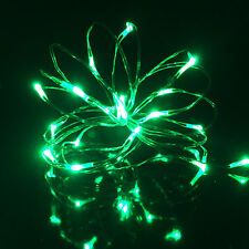 20 Micro LED Silver Wire Battery Operated Fairy Lights Waterproof 2xaa Powered Red Rice Lights