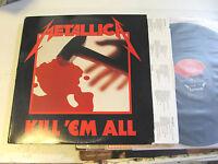 METALLICA Kill 'Em All LP elektra vinyl '83 1A/1A etch e160766 rare metal club!