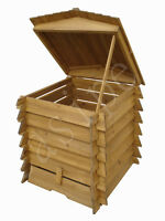 Wooden Compost Bin 328L Composter BeeHive Style Recycle Garden Kitchen Waste 337