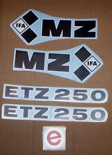 ETZ,ETZ 250,MZ,Aufkleber,Aufklebersatz,Oldtimer,Seitendeckel,Tank,Ostalgie,MZ