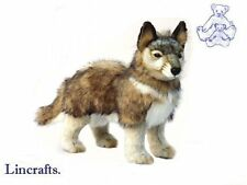 Standing Wolf Plush Soft Toy by Hansa from Lincrafts. 4292