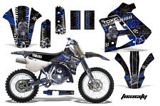 Yamaha WR250z Graphics Kit AMR Racing Bike Decal Sticker Parts WR 91-93 TOXIC BU