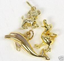 ♦♦ 8kt 14kt Gold Anhänger Hund Ente Delphin Kinder Kettenanhänger Kinderanhänger