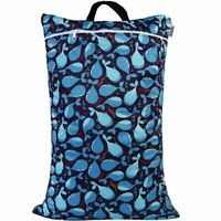 Waterproof Double Zip Large Wet Bag Whales 40x70cm