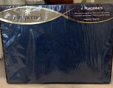 New listing Pimpernel Placemats - Quality Blue Pattern Cork base New in Package of 4