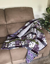 Handmade Purple Wine Quilted Blanket