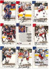 1997-98 Pinnacle BAP Be A Player Signature New York Rangers Team Set (10)