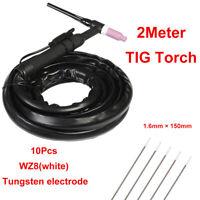 WP-17 Air-Cooled TIG Welder Machine Welding Torch Tungsten Electrode WZ8 (White)