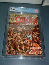 CONAN the BARBARIAN #24 CGC 8.0 W/P KEY 1st FULL RED SONJA & STORY NETFLIX SHOW
