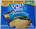 NEW Pop Tarts Toaster Pastries Unfrosted Blueberry 16 Count Free World Shipping