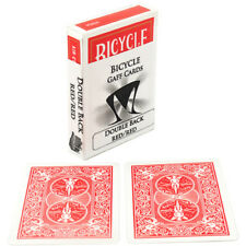 Double Back (Red / Red) Single Bicycle Gaff Card - Great for Magic Tricks!