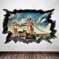 Full colour London Bridge Skyline Mur Art Autocollant Decal Mural Transfert Graphique