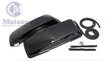 Mutazu Premium 6 x 9 Speaker Lids Vivid Black for Harley Touring Saddlebags 1B