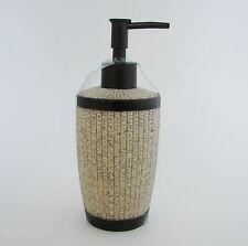 NEW TAN+BEIGE+BROWN RESIN KITCHEN,BATHROOM SOAP,LOTION DISPENSER