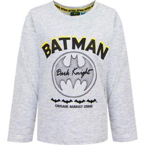 Batman Langarmshirt Jungen Shirt Kinder T-Shirt Langarm Rundhals Neu Gr 98 - 128