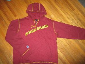 WASHINGTON REDSKINS HOODIE Football Team Old Defunct Name Logo Sweatshirt XL