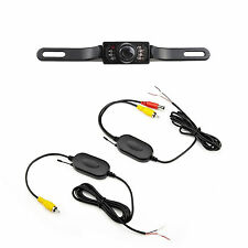 Car 2.4GHz Wireless Receiver & Transmitter + Backup Reverse License Plate Camera