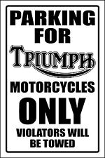TRIUMPH MOTORCYCLE PARKING SIGN -aluminum top quality