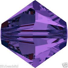 Swarovski 5328 Xilion Bicone Beads  4mm : Purple Velvet (50 beads)