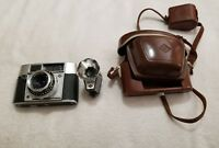 Vintage Agfa OPTIMA II S Prontormator Camera w/1:28/45 Lens /Case/Flash
