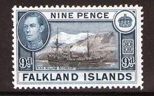 Falkland Islands George VI 9d SG157  3 Lightly hinged