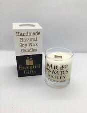 Personalised scented candle 100% soy wax, vegan candle, Wedding , New Home Gift