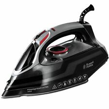 Russell Hobbs PowerSteam Ultra Vertical Steam Iron 3100W Ceramic - Black, 20630