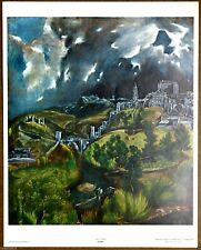 El Greco   View Of Toledo  Vintage Original 1960 1st Print Limited Ed Lithograph