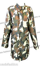 Ladies Women's Summer Festival Camouflage Army Jackets Sizes Small to X-Large
