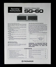 PIONEER sg-60 originale manuale d'uso/User Manual Top-Resp.!