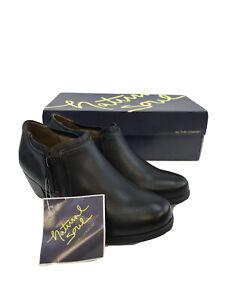 Black Kasta Side Zip Ankle Booties Sz 6