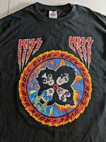 """Vintage KISS """"Rock and Roll Over"""" T-Shirt, Front & Back Graphics, Unworn Lrg"""
