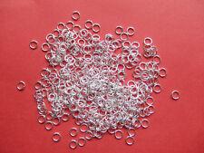 200 pz anellini in metallo colore argento chiaro 5x0.69mm bijoux