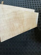Curly Eastern Maple Electric Guitar Cap Carved Drop Top Flame Figured Tonewood