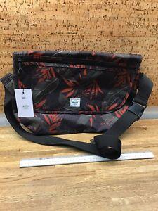 Herschel Supply Company Grade Messenger Shoulder Bag Dark Olive Palm - NN4